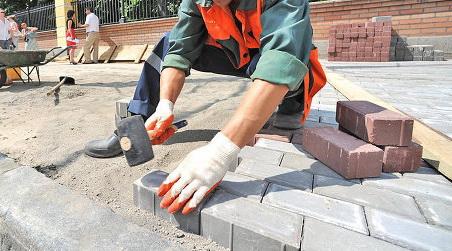 Укладка тротуарной плитки своими руками на мучку